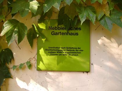 Cache Tour Frankfurt - Gartenhaus Bockenheimeranlage