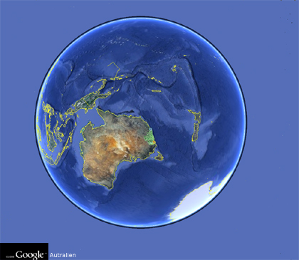 Google Earth - Australien - Geocaches