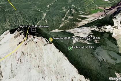Google Earth Foto - Zugspitzen Caches