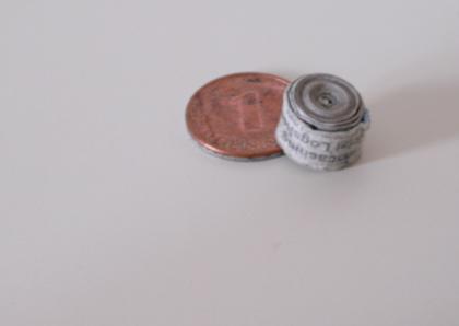 Volles Nano Logbuch auf Pfennigmünze