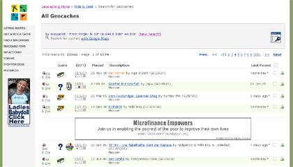 special - cache finden - geocaching.com - verteilseite