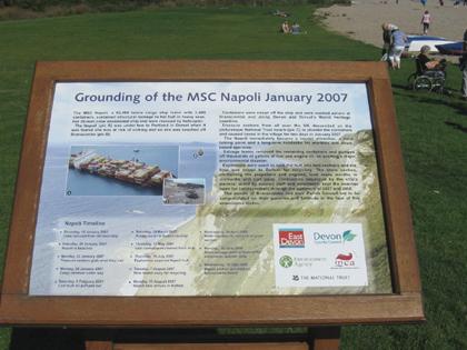 MSC Napoli - Lyme Bay nahe Sidmouth