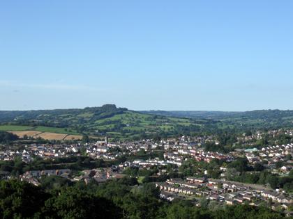 Geocaching - Blick auf Honiton - Grafschaft Devon