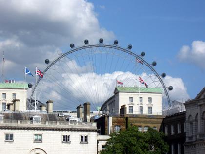 London - Eye im Hintergrund