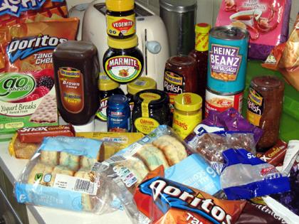 Englische Lebensmittel
