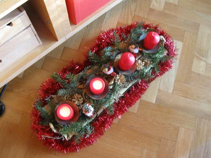Martinas selbst gestalteter Adventskranz1