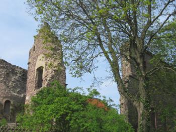 Burgruine in Hessen