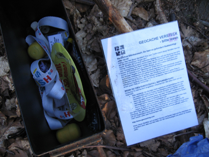 Geocaching Box - mit Krimskrams