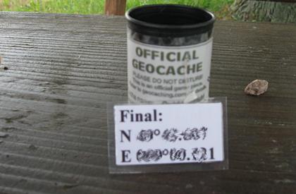 Geocaching: Multi Cache Filmdose - Hinweis auf Finale Koordinaten