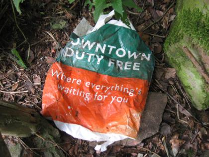 Geocaching: mögliche Tüte des verloren gegangenen Caches?