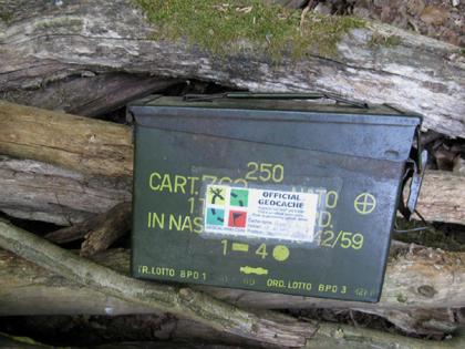 Cachebox - Metall - grün
